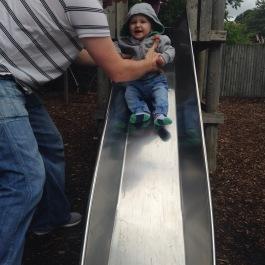 Austin on the slide