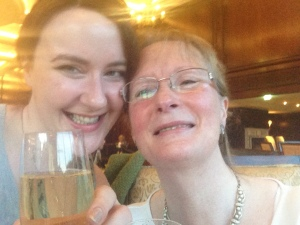 Me and Mom with some bubbly!
